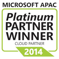 Microsoft APAC Platinum Cloud Partner Winner in 2014