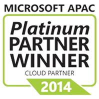 Microsoft APAC Platinum Cloud Partner Winner in 2014